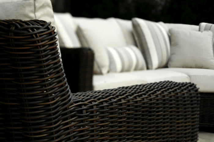 wicker furniture detail